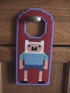 Adventure Time Door Hanger Perler Beads by angelferret