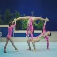 trios on pinterest  gymnastics stunts and yoga poses