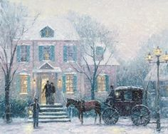An Evening Out Robert Girrard Thomas Kinkade art for sale at Toperfect gallery. Buy the An Evening Out Robert Girrard Thomas Kinkade oil painting in Factory Price. Thomas Kinkade Art, Thomas Kinkade Christmas, Christmas Scenes, Christmas Art, Victorian Christmas, White Christmas, Paintings I Love, Beautiful Paintings, Oil Paintings