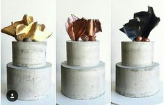 Concrete cake designs