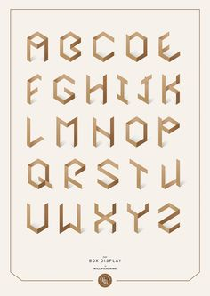 Box Display - Typeface by Will Pickering, via Behance