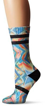 Stance Women's Coco Loco Everyday Crew Sock, Sage, One Size