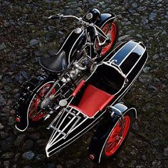 BMW motorcycle and a side car.