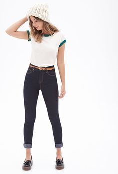 High-Waisted - Skinny Jeans #Denim