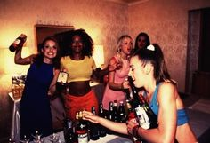 """The Spice World Drinking Game - Everyone dresses as a different Spice Girl, then follows the rules for drinking. Example- """"Sporty Spice"""" has to drink when she wears a tracksuit, exercises, rolls her eyes, or talks about sports... Different rules for each character!"""