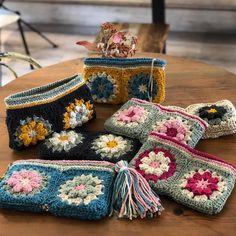 Crochet Bunny, Crochet Motif, Crochet Yarn, Crochet Wallet, Crochet Gifts, Crochet Handbags, Crochet Purses, Crochet Sunflower, Handarbeit