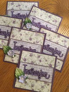 scrappehjertet.blogspot.no: Invitasjon -konfirmasjon. Scrapbook Cards, Scrapbooking, Confirmation, Decorative Boxes, Lily, Anna, Tags, Creative, Orchids