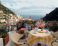 Eating breakfast overlooking the Amalfi Coast...can it get more romantic than this?