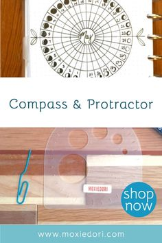 Love those circle bullet journal layouts? Now you can make them quickly and easily using this compass protractor. Get yours today. #bulletjournal #circle #moxiedori