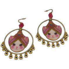 Cute Cat earrings /Créoles Chat turban MANOUSH BY N2 - N2
