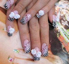 Nail Designs Acrylic Nails New Bow Ties and Barrettes Hot Nail Designs Hot Nail Designs, Nail Designs Pictures, Creative Nail Designs, Beautiful Nail Designs, Simple Nail Designs, Beautiful Nail Art, Creative Nails, Gorgeous Nails, Acrylic Nail Designs