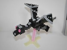 DIY 3D Minecraft Ender Dragon perler beads - Photo Tutorial