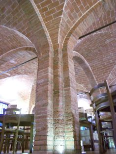 The imposing columns of the ancient stables of the Villa Graziani (1841)
