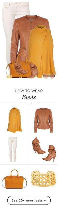 """""""Leather Jacket & Boots"""" by stay-at-home-mom on Polyvore featuring CIMARRON, HUGO, River Island, Hogan, Nest, Salvatore Ferragamo and Evelyn Knight"""