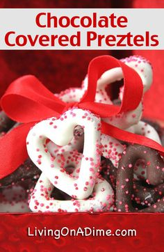2 Ingredient Chocolate Covered Pretzels Recipe - 10 Easy Valentine's Day Candy and Treats Recipes