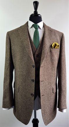 3 Piece Tweed Suit, Brown Tweed Suit, Mens Tweed Suit, Tweed Suits, 3 Piece Suits, Men's Suits, Tweed Jacket, Raymond Suit, Mens Fashion Suits