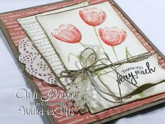 Join me in my craft room today and learn how to create this absolutely gorgeous Vintage Tulips Card featuring Stampin Up's Tranquil Tulips stamp set!