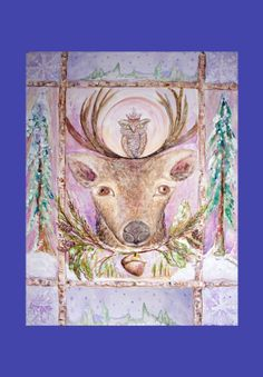 Dance Of The Elk acrylic on canvas original.