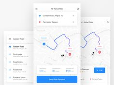 Ride sharing App | Nickel Ride by Shojol Islam for Flatastic