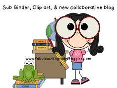 Fabulous 4th Grade Froggies: Sub binder freebies, Clip Art, & new blog