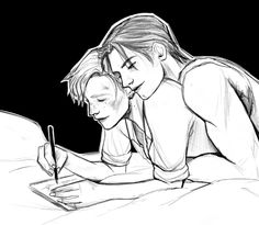 """-A White Blank Page : Photo (Steve/Bucky)-  """"Let's not get outta bed today, 'kay Stevie?"""""""