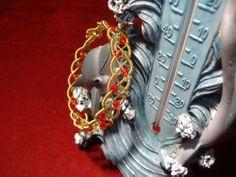 Gold plated copper wire & Swarovski crystal bangle.