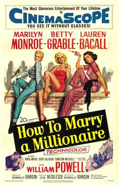 HOW TO MARRY A MILLIONAIRE (1953) - Marilyn Monroe - Lauren Bacall - Betty Grable -  20th Century-Fox.