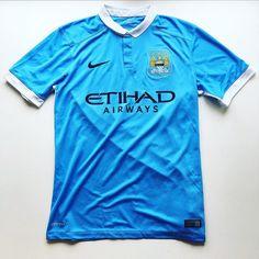 City 2015 home shirt - link in bio ☝️ #city #mancity #manchestercity #mcfc #etihad #premierleague #premiership #nike #nikefootball #football #footballshirt #soccer #soccerjersey