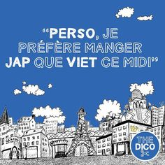 """Perso je préfère manger jap que viet ce midi""  commonly used #apocopes.  #apocope #thedico #ledico #frenchdictionary #learnfrench #colloquial #expressions #FLE #"