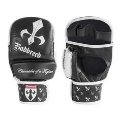 BADBREED SIGNATURE EDITION MMA SPARRING GLOVES - 8.5oz sparring glove, suitable for semi-pro MMA fighters. Made from buffalo leather with divisional padding for easy manoeuvring. Combines a breathable, moisture absorbing, anti-microbial lined inner knuckle area to retain freshness and, leather thumb for comfort.