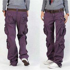 6a4d119dd02 Woman Cargo Pants Cotton Trousers Loose Plus Size Ladies Harem Hip Hop Army  Pants Women Wide Leg Casual Pants Outdoor
