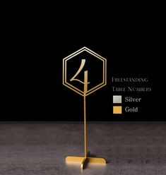 """Table Numbers - Sale Freestanding Gold Table numbers - Geometric Table Numbers-Please Enter your phone number in the """"NOTE to the seller"""" Gold Table Numbers, Wedding Table Numbers, Wedding Table Centerpieces, Wedding Decorations, Lettering, Flower Girl Gifts, Will You Be My Bridesmaid, Rustic Signs, Decoration Table"""