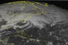 "Satellite image taken Friday, Feb. 8, 2013 at 1:45 p.m.  Northeast Storm - Hype,"" by AP Science Writer Seth Borenstein: ""The weather service uses names for hurricanes and tropical storms. ... Decades ago, storms like this would come with at most a day or two warning. But now because of satellite technology ... and better data and modeling, forecasters are seeing storms several days in advance.... [T]he lead-up to the storm has been the  equivalent of the week before the Oscars or Super Bowl."