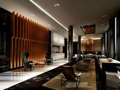 The lobby at 101 Erskine, condos just north of Yonge and Eglinton in Toronto.