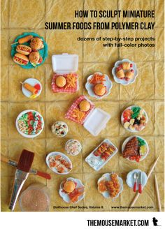 Make your own miniature foods for summer out of polymer clay with this step-by-step eBook