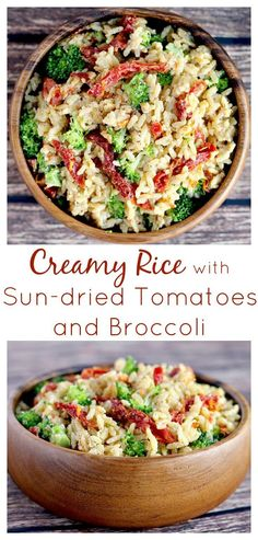 I made this Creamy Rice with Sun-dried Tomatoes and Broccoli recipe in less than 10 minutes! It's such an easy recipe and so delicious! It's vegetarian as written but you can add chicken too! It's also naturally gluten free! Healthy Side Dishes, Vegetable Side Dishes, Side Dishes Easy, Side Dish Recipes, Veggie Recipes, Cooking Recipes, Healthy Recipes, Rice Recipes, Summer Vegetarian Recipes