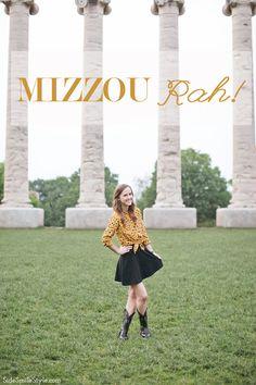 Mizzou Rah! | Graduation | Black and Gold | Equipment Blouse | Cowboy Boots