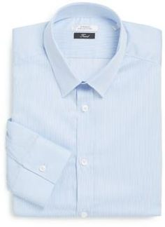 182f2a95c61 Versace Trend-Fit Striped Cotton Dress Shirt Versace Sale