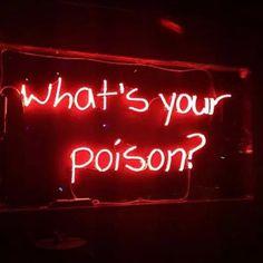 Neon light #whatsyourpoison