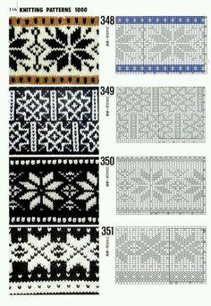 "Photo from album ""Knitting patterns book 1000 on Yandex. Designer Knitting Patterns, Knitting Designs, Knit Patterns, Knitting Projects, Stitch Patterns, Knitting Tutorials, Star Patterns, Fair Isle Chart, Fair Isle Pattern"