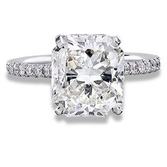 2.61 Carat Radiant Cut Diamond engagement ring - from the beginning, this was my dream ring.....