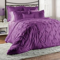 Amazon.com: Unique Home 8-Piece Lucilla Pinch Pleat Comforter Set - Fade…
