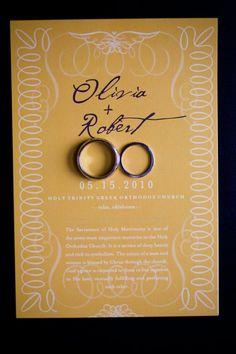 Rings on invitation