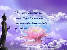 As we meditate...