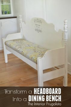 Mismatched Headboard & Footboard Become A Dining Bench | Hometalk
