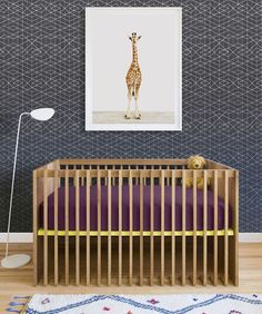 Nursery inspo on this Friday! How amazing is the wallpaper (and image) from @makelikedesign Incredible!! #weekendcountdownison #makingtodaycount