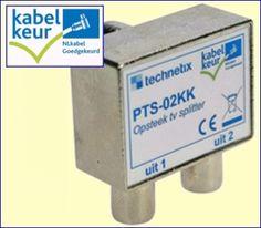 De PTS-02KK van Technetix is een kwalitatief uitstekende passieve antenneverdeler voor het snel aansluiten van twee coaxkabels naar twee TV's, bijvoorbeeld in uw woon- én slaapkamer. Bruikbaar voor analoge en digitale kabel-TV. Breedbandig tot 1.000 MHz. Geschikt voor retoursignalen. http://www.vego.nl/hirschmann/pts-02kk/pts-02kk.htm