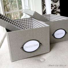 My favorite inexpensive storage boxes - IKEA's gray KVARNVIK boxes