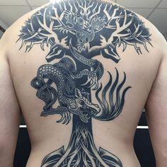 Viking Tattoo: Nordic Kraft. - http://tattoosideen.com/2016/07/18/viking-tattoo-nordic-kraft/
