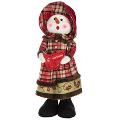 Standing Girl Snowman Caroler Diy Projects Videos, Fun Projects, Sewing Projects, Hobby Lobby Coupon, Happy Today, Adjustable Legs, Print Coupons, Scrapbook Paper Crafts, Yarn Needle